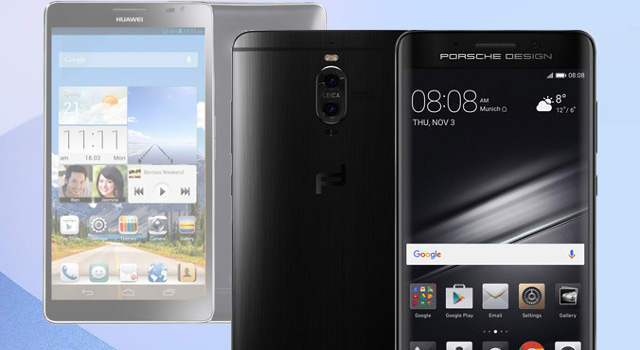 Huawei Mate: dall'Ascend Mate al Mate 9, l'evoluzione della serie