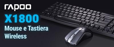 Rapoo Mouse e Tastiera Wireless
