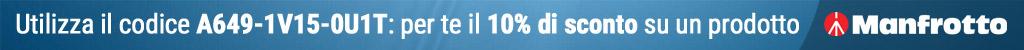 Sconto 10% sui prodotti Manfrotto