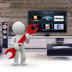 Installazione TV a parete