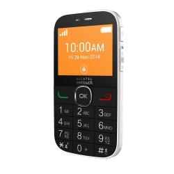 Telefono cellulare one touch 2004c pure white.