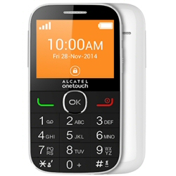 Telefono cellulare one touch 2004g white.