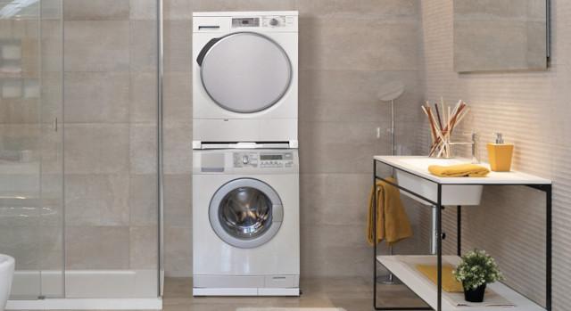 Asciugatrice sopra la lavatrice: come installarle con un kit colonna