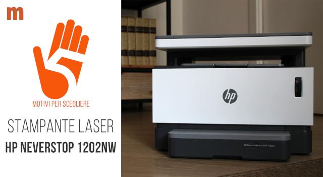 Stampante laser HP Neverstop: recensione della multifunzione ricaricabile