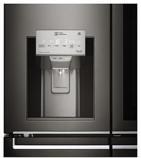 Dispenser ghiaccio e acqua frigo americano