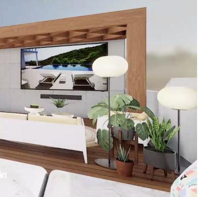 TV Samsung The Terrace da esterno