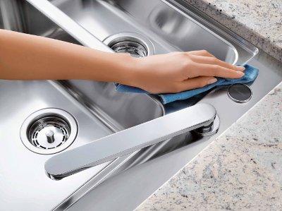 pulire con acqua asciugatrice