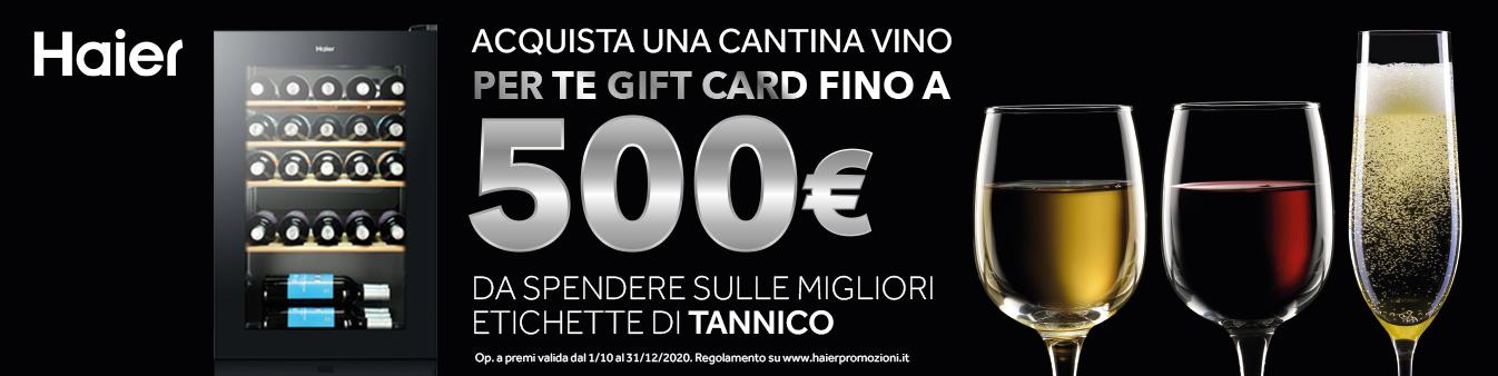 Haier: Gift Card Tannico 500¤