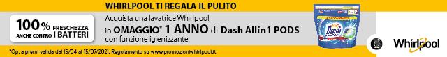 Lavatrici Whirlpool Dashpods 2021