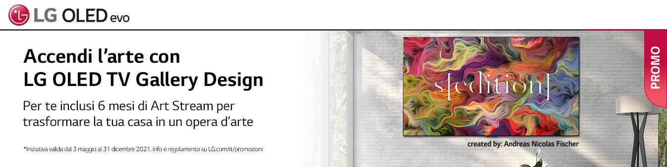 Accendi l'arte con LG OLED TV