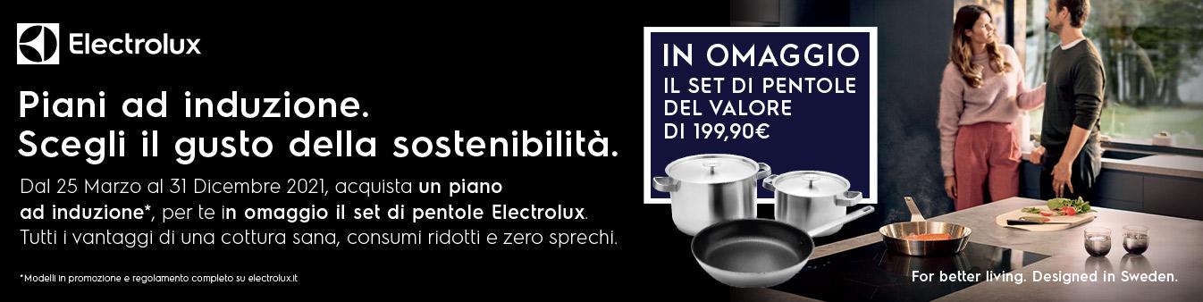 Electrolux: set pentole in omaggio