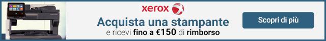 Xerox Cashback fino a 150¤