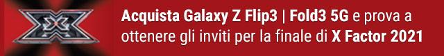 Con Galaxy Z Flip3 e Fold3 5G vinci X Factor 2021