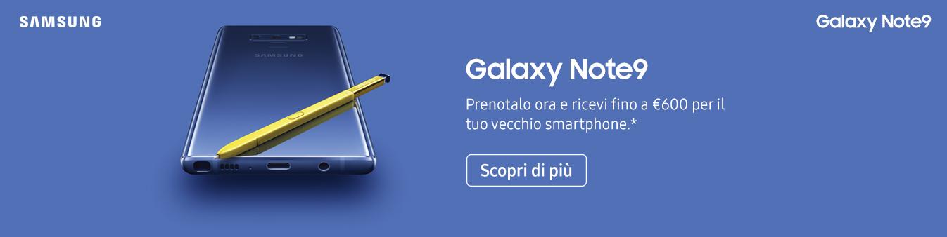 Samsung Galaxy Note9: prenota ora