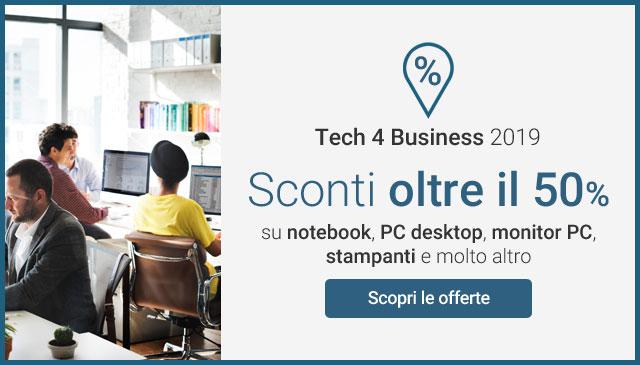 Tech 4 Business 2019: sconti oltre il 50%