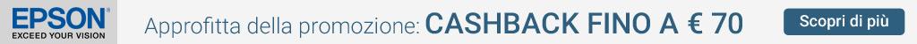 Epson - Offerte cash back