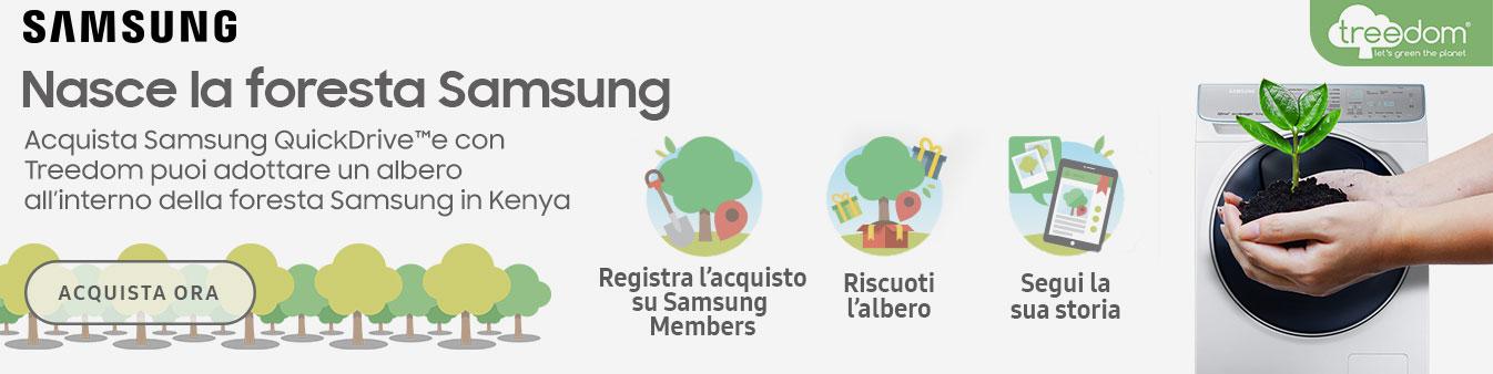 Acquista Samsung QuickDrive e adotta una albero