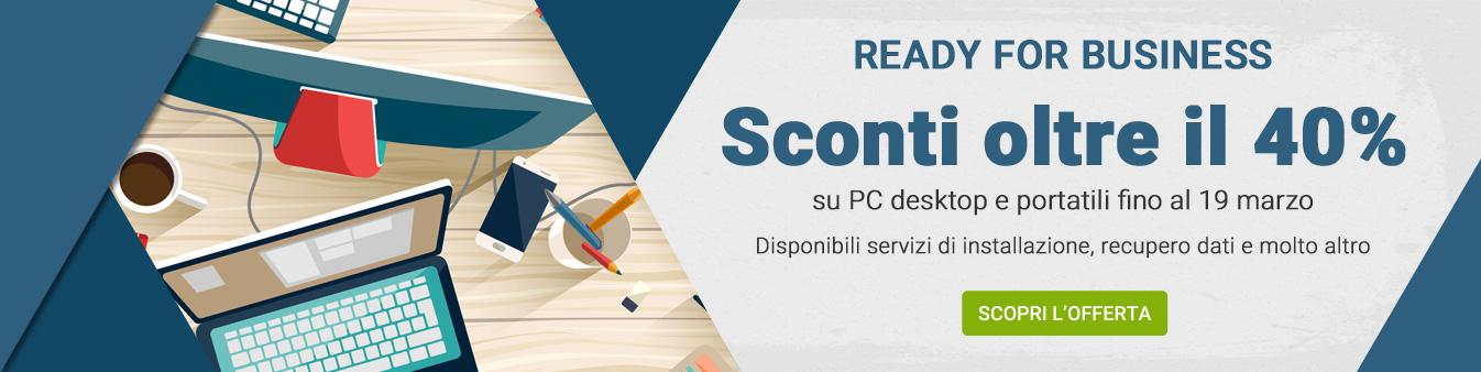 Ready for business - Sconti oltre il 40%