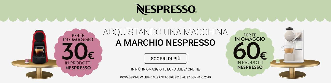Nespresso: capsule in omaggio