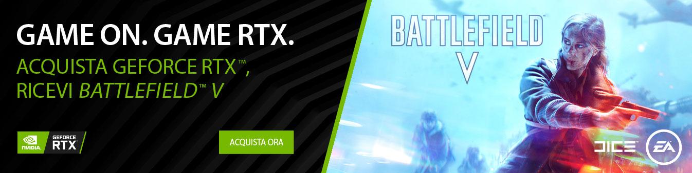 Acquista GeForce RTX e ricevi Battlefield V