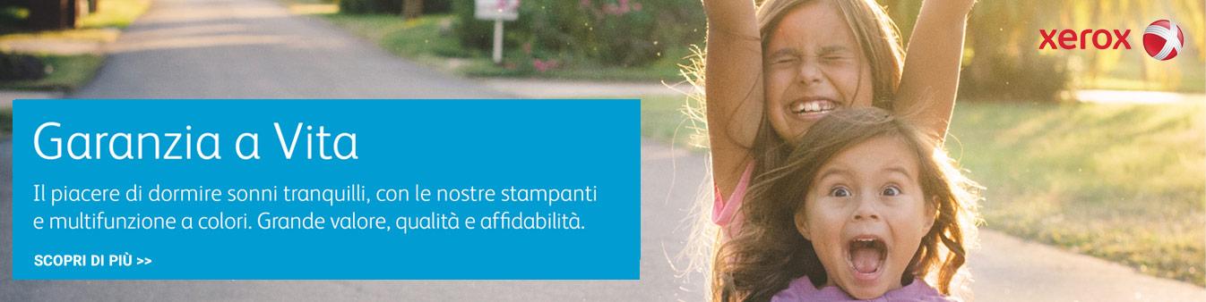 Xerox Garanzia a Vita