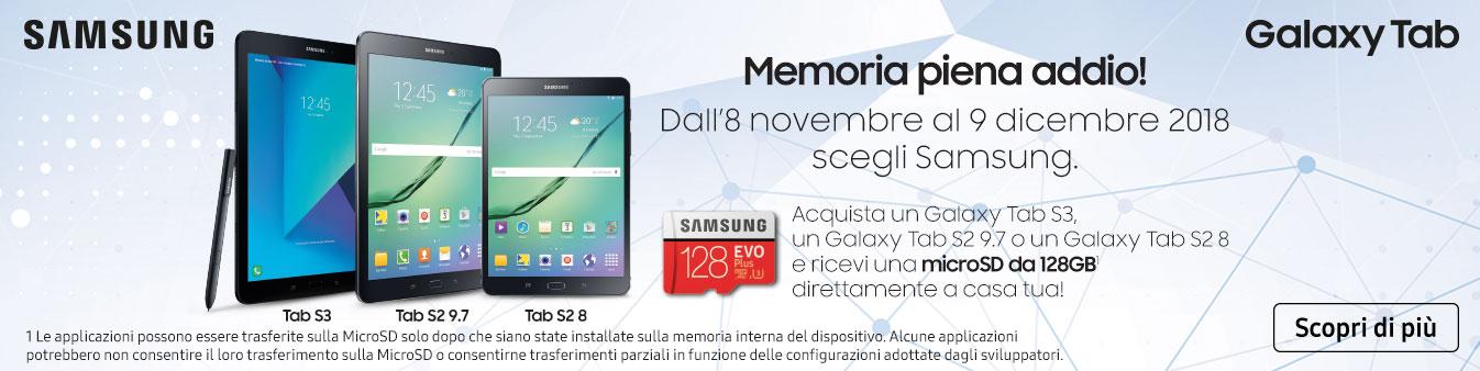 Acquista Galaxy Tab: in omaggio microSD