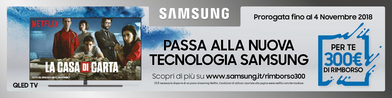 300¤ di rimborso con acquisto QLED Samsung