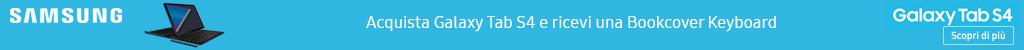 Acquista Galaxy TAB S4 e ricevi una Bookcover Keyboard