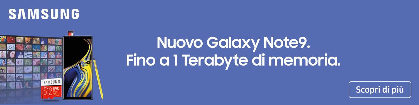 Con Galaxy Note9 raddoppi la memoria