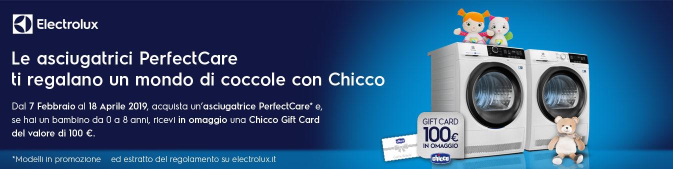 Electrolux ti regala una Gift Card Chicco