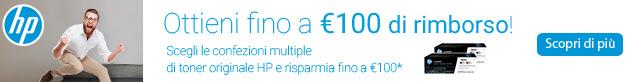 Con HP ottieni fino a 100 euro di rimborso!