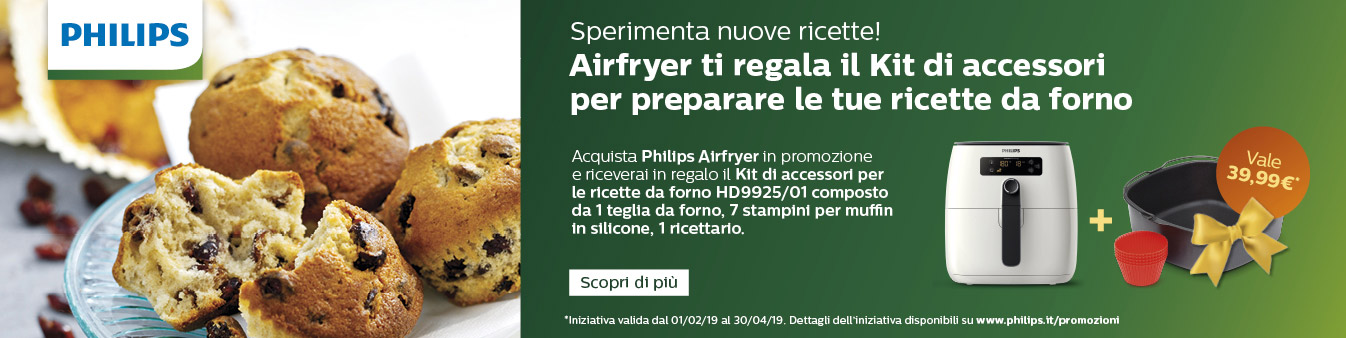 Philips Airfryer ti regala il kit di accessori