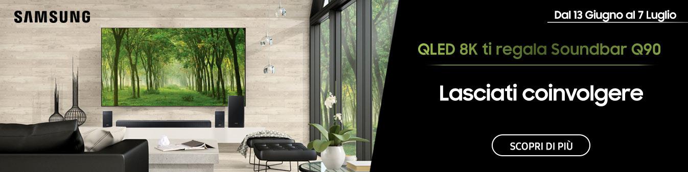 QLED 8K ti regala Soundbar Q90