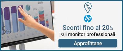 HP monitor sconti 20%