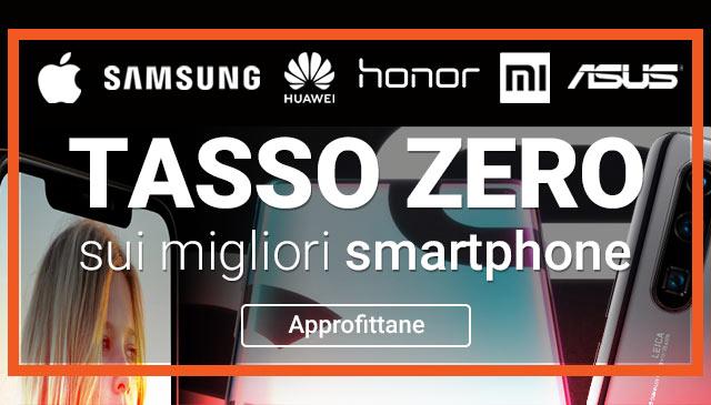 Tasso Zero sui migliori smartphone