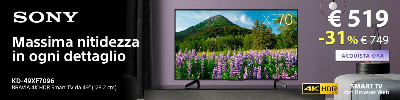 TV Sony 4K: risparmia 230¤