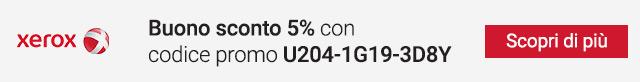 Xerox: buono sconto 5%