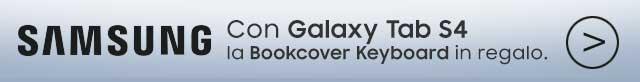 Samsung Tab S4 - Bookcover Keyboard in omaggio