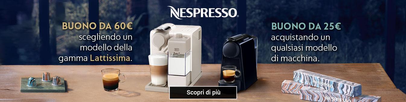 Nespresso: ¤60 di caffè in omaggio