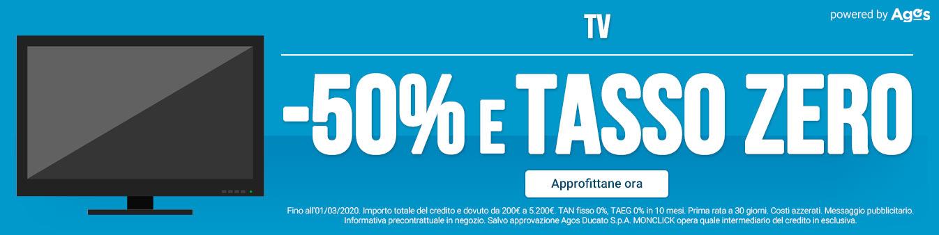 TV: -50% e Tasso Zero