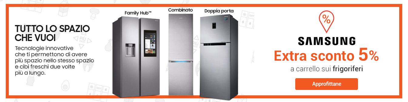 Extra Sconto -5% frigo Samsung