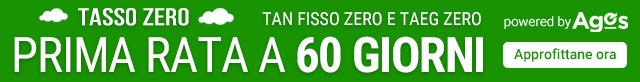 Tasso Zero Rinunce: 10 rate e la prima è tra 60 giorni!