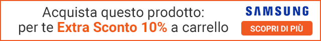 Extra Sconto 10% elettrodomestici Samsung