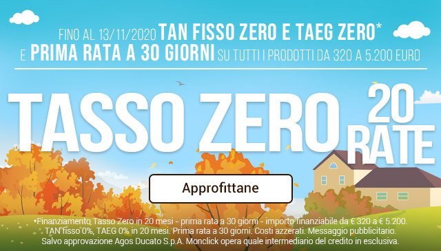 Tasso Zero 20 Rate