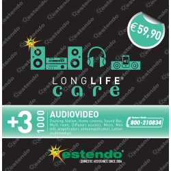 Estensione di Assistenza Care 3 anni Hi-Fi Audio 500-1000¤