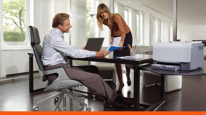 Ufficio Retro Verso : La stampante giusta per un piccolo ufficio amministrativo come