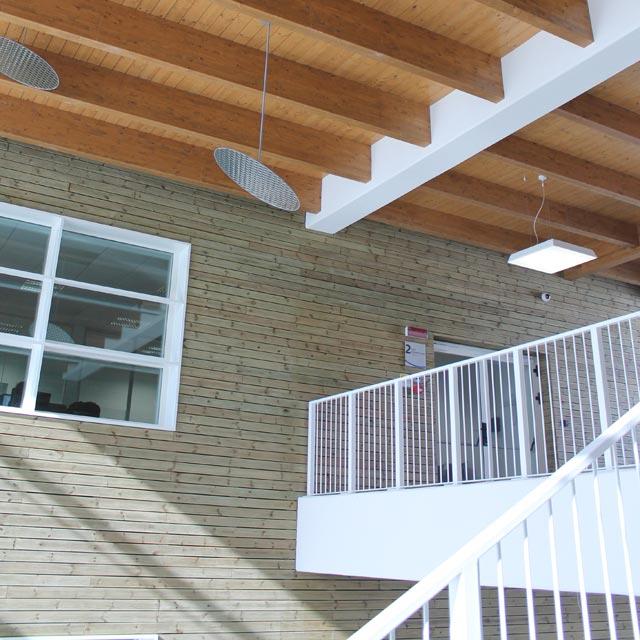 Interno del Building 04 presso l'Energy Park di Vimercate
